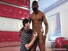Black hunk gets his massive dick stroked 2 gay sex