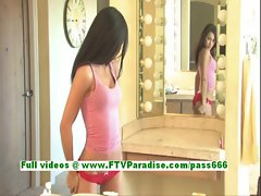 Ileana superb brunette teenage toying pussy with a vibrator