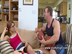 Hard drilled babe student