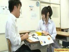 Cute Asian In Uniform Get Sex In Class clip-30