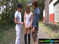 Outdoor Sexy Teen Asian Get Nailed video-22
