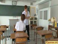 Asian In School Uniform Get Hard Sex video-27