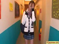 Asian In School Uniform Get Hard Sex video-12