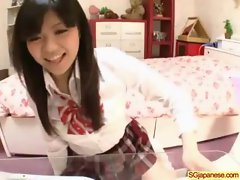Asian In School Uniform Get Hard Sex video-01