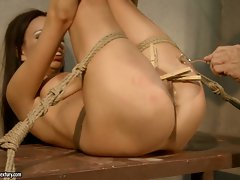 Strong willed whore Vivien gets her steamy hot snatch toyed for so much pleasure