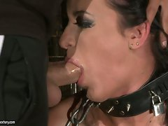 Naughty whore Barbie loves taking a huge cock deep i her slippery throat