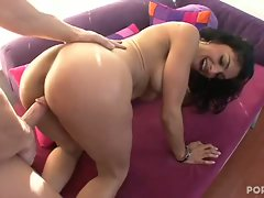 Persia Pole gets pounded long and hard from behind by a huge dong