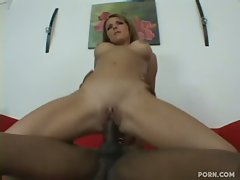 Amanda Blue rides a studly stallion's hard cock like a bronco buster