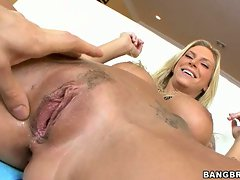 Bald Brooke Biggs begs her big boy to bang her tight little cunt
