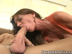 Gorgeous milf Sarah Bricks gets her soaked pussy fucked by a huge cock