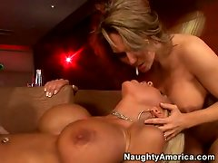 Sexy girls Misty Vonage and Elle Cee get it on with no man involved.