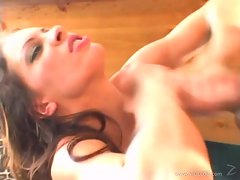 Voluptuous Vanessa Lane gets splattered with spunk