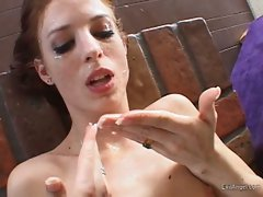Bitch mistress Riley Shy gets a mouth full of cock cum from her stud
