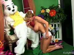 Kelly Madison gets kinky fucked by a bunny