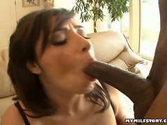 Vannah Sterling starts to give a blowjob a sweet black cock.
