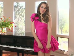 Dani Daniels hottie babe sexy in pink dress