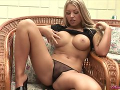Super slut Anette Dawn popping those boobies of hers for everyone's pleasure