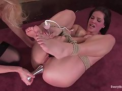 Hot ass Bobbi Starr has her ass abused with several large toys by Mistress