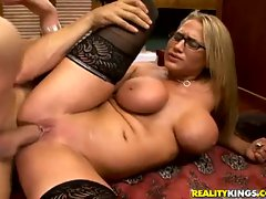 Milf Alanah Rae uses her private office for a steamy sexual rendezvous