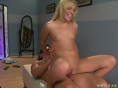Ally Kay hot babe make love with a lusty security guy