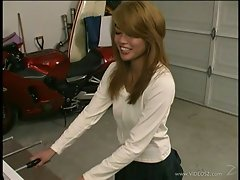 Charmane Star get horny while being interview and play