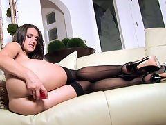 Misty Anderson dildo fuck her tight cunt