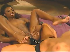 Jewel Denyle strap on fucks her ebony lover