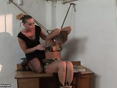 Kathia Nobili and C J babe tying of arms