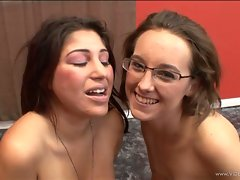 Britney Stevens and friend enjoy with cum on their face