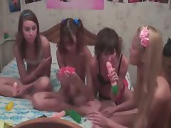 Four hungarian teens in live show