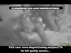 Amateur blonde on night cam fucked hard and riding cock on bed