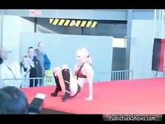 Super sexy blonde babe going crazy part3