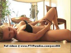 Brigitte tender blonde toying pussy