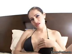 Arab slut with big fake tits showing part2