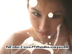 Janelle tender gorgeous babe milking