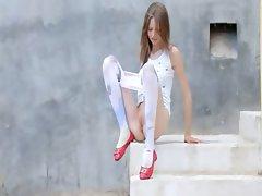 Luxury peening of super slim girl