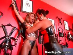 Hot tied blonde gets butt and hot body part5