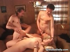 Amateur milfs fuck like crazy during part1