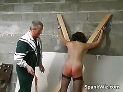 Tied sexy brunette gets her hot ass part6