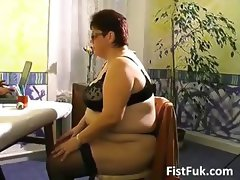 Busty mature fatty gets her old pussy part5