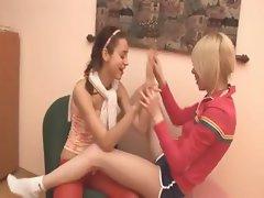 czechian Natasha and Alice at home