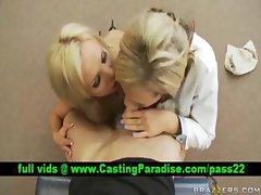 Nikki Nikki two horny blonde babes does blowjob