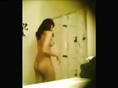 Super hot latina teen changing and showering on hidden cam