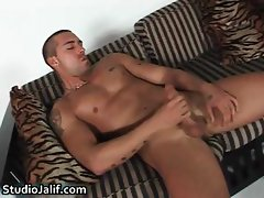 Latin Nacho jerking his firm gay cock part2