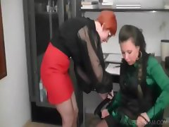 WAM scene with mistress and slave