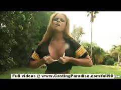 Nikki Delano amateur gorgeous blonde teen fingering outdoor