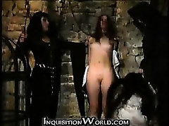 Young maid tortured by Holy Inquisition
