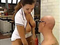 The psychiatrist enjoys making his patients bang