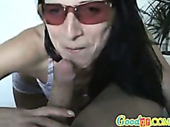 Sunglasses Sucking Real Amateur Cumshot