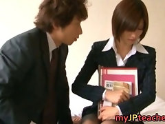 Akari Asahina Hot Japanese teacher hunts